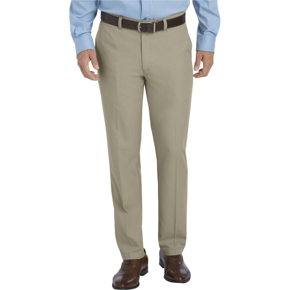 Dickies Men's Dickies Khaki Flat Front Microfiber Pant - Brown WP907
