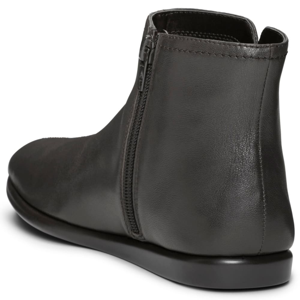 AEROSOLES Women's Willingly Flat Ankle Boots, Wide - BLACK LEATHER-002