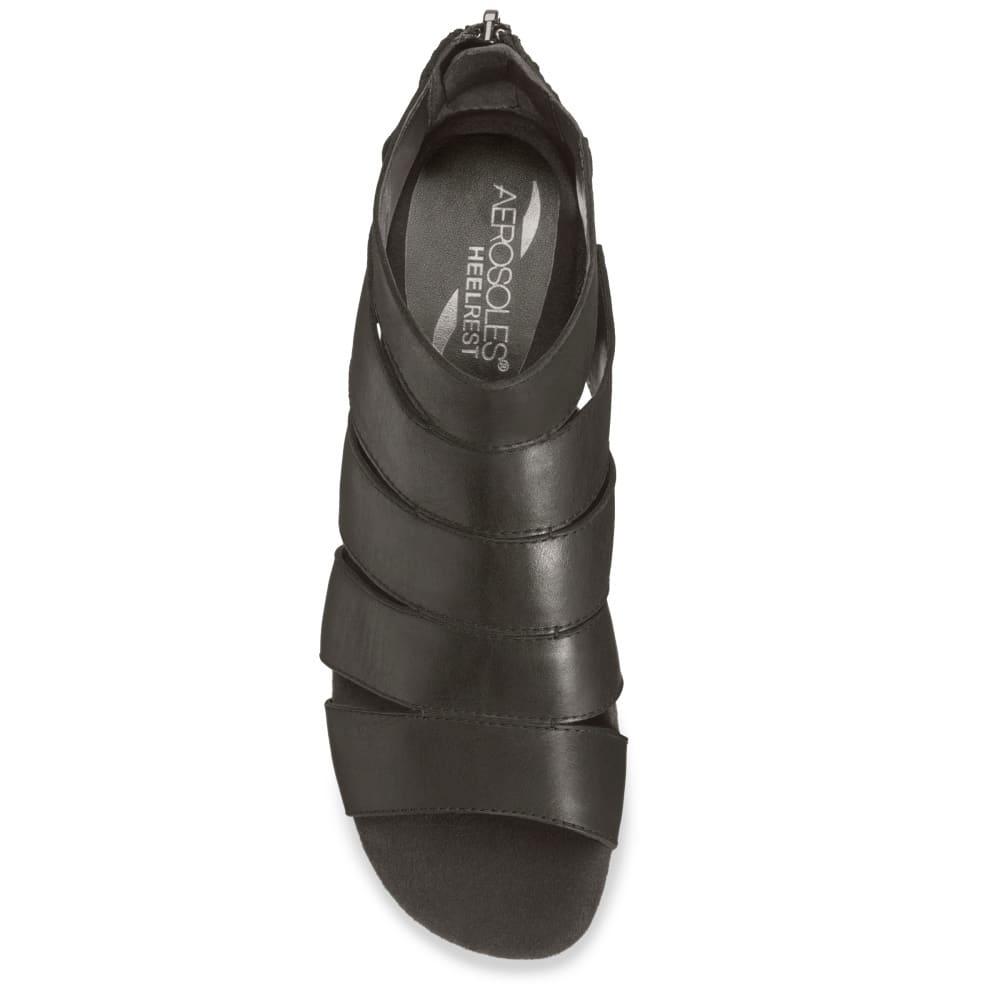 AEROSOLES Women's Yet Forth Wedge Sandals - BLACK-002