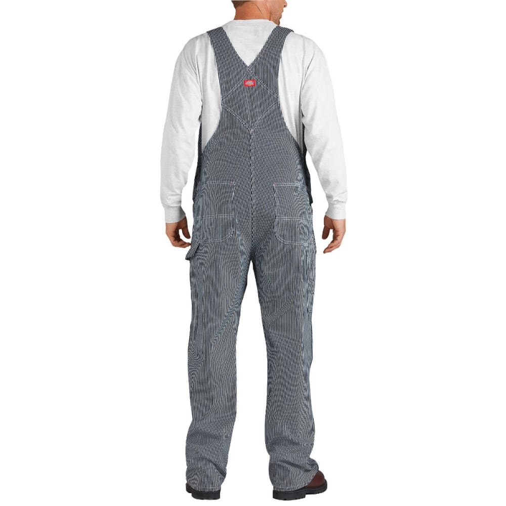 DICKIES Men's Striped Bib Overalls, Hickory Stripe, Extended Sizes - HICKORY STRIPE-HS