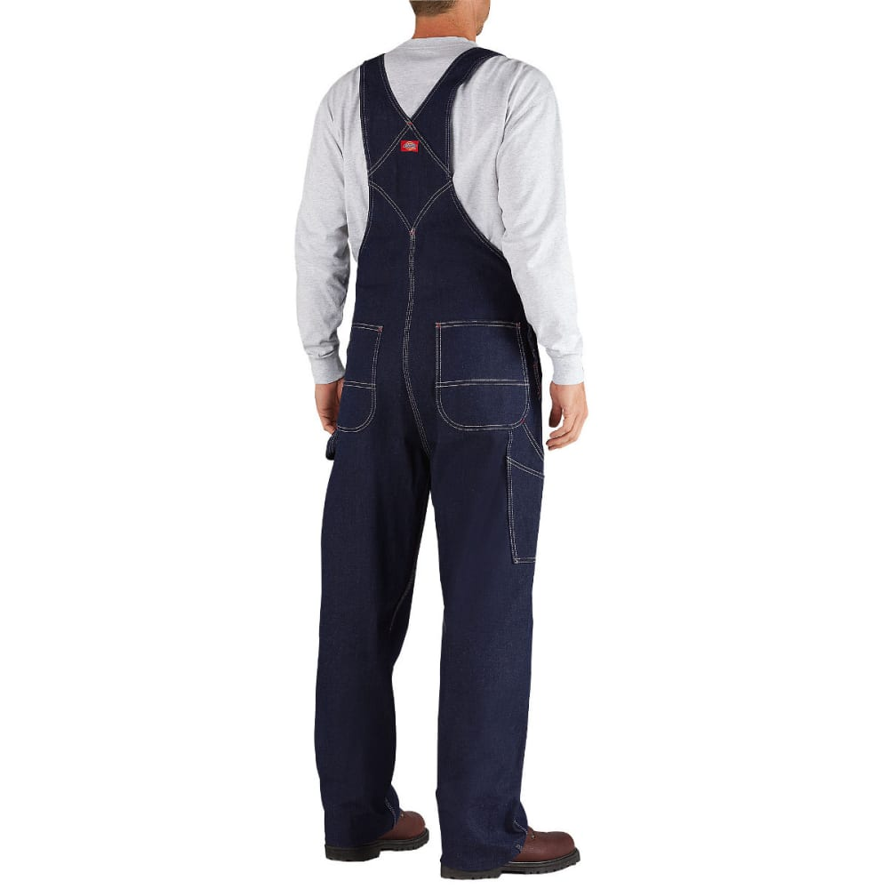 DICKIES Men's Rigid Denim Bib Overall, Indigo Blue, Extended Sizes - INDIGO BLUE-NB