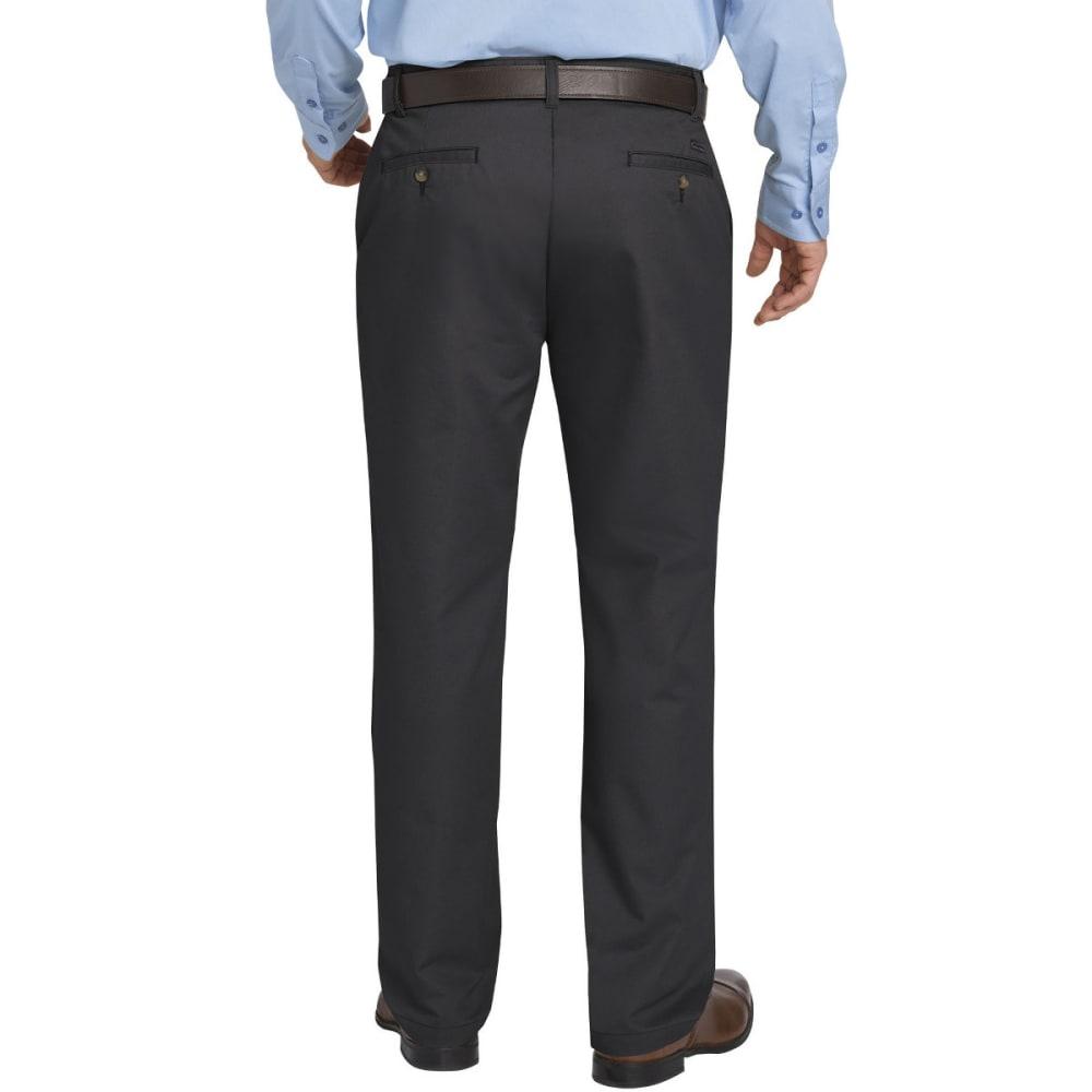 DICKIES Men's Khaki Flex Regular Fit Tapered Leg Flat Front Sorona Pant - RNSD BLACK-RBK