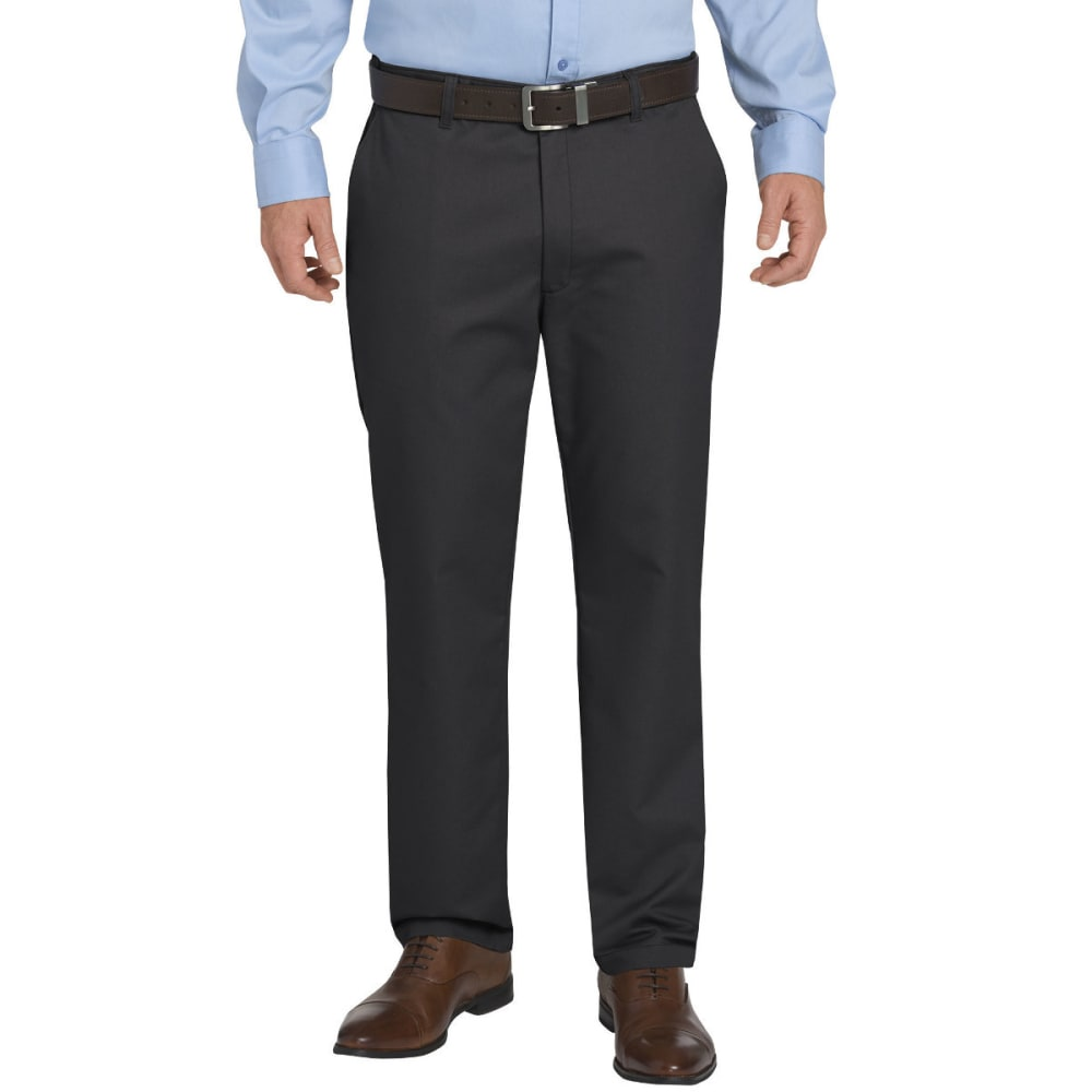DICKIES Men's Khaki Flex Regular Fit Tapered Leg Flat Front Sorona Pant 30/30
