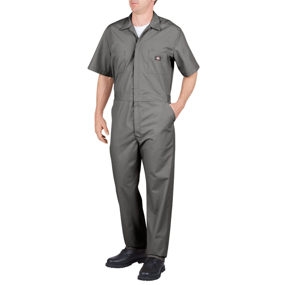 DICKIES Men's Short Sleeve Coverall - GRAY-GY