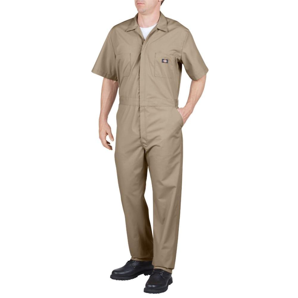DICKIES Men's Short Sleeve Coverall - KHAKI-KH