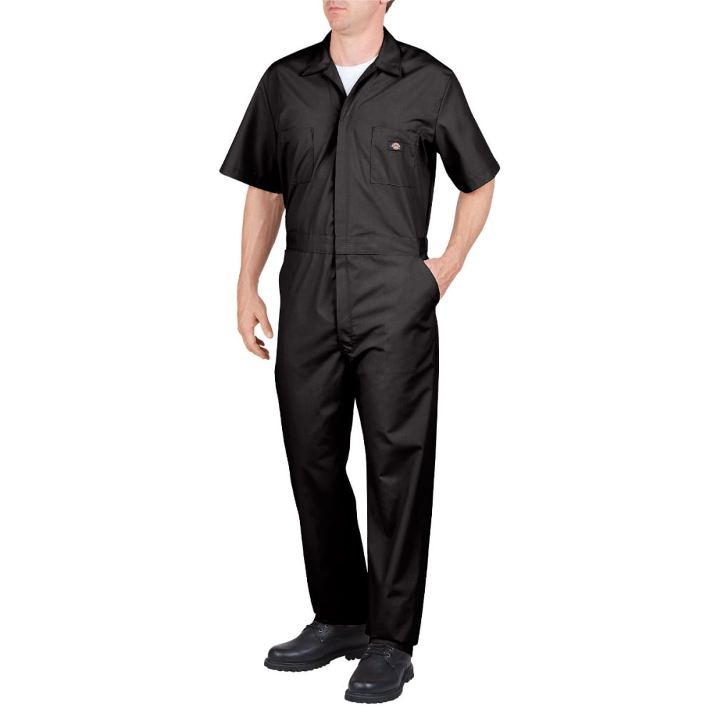 DICKIES Men's Short Sleeve Coverall, Extended Sizes - BLACK-BK