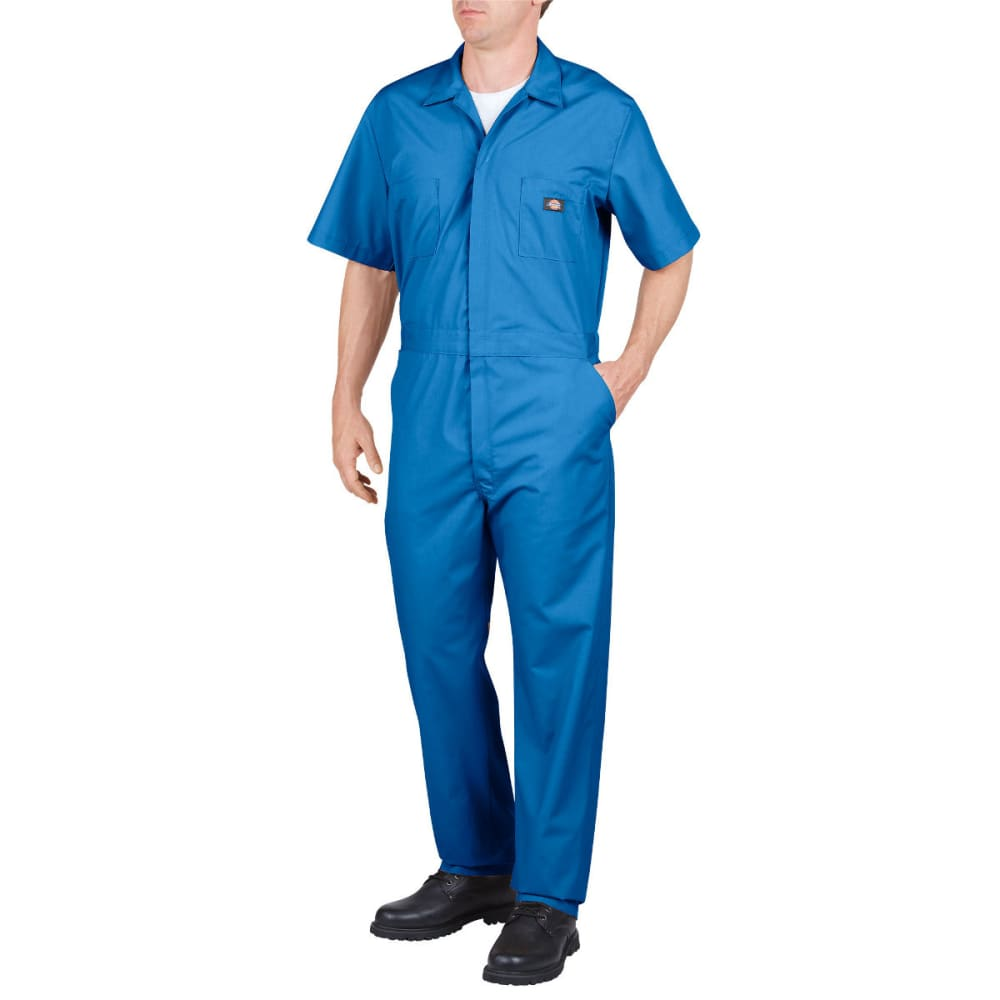 DICKIES Men's Short Sleeve Coverall, Extended Sizes M TALL