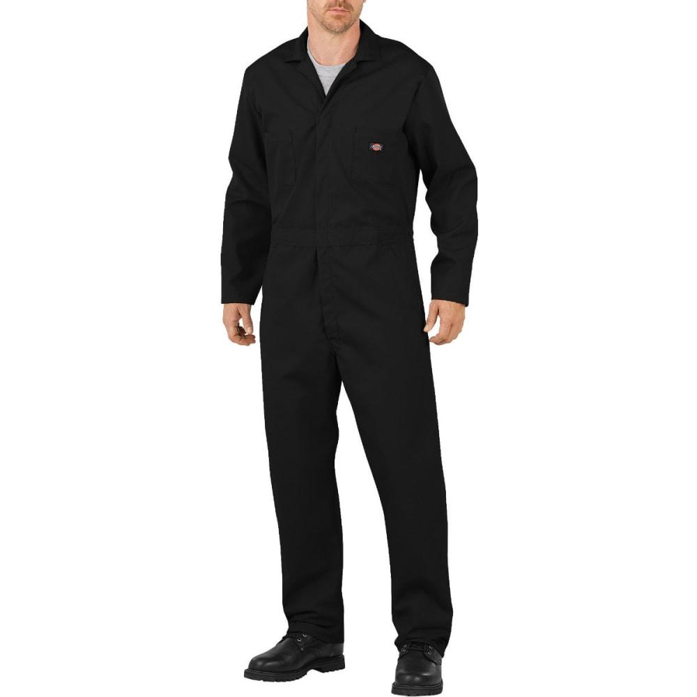 DICKIES Men's Flex Long Sleeve Coverall, Extended Sizes - BLACK-BK