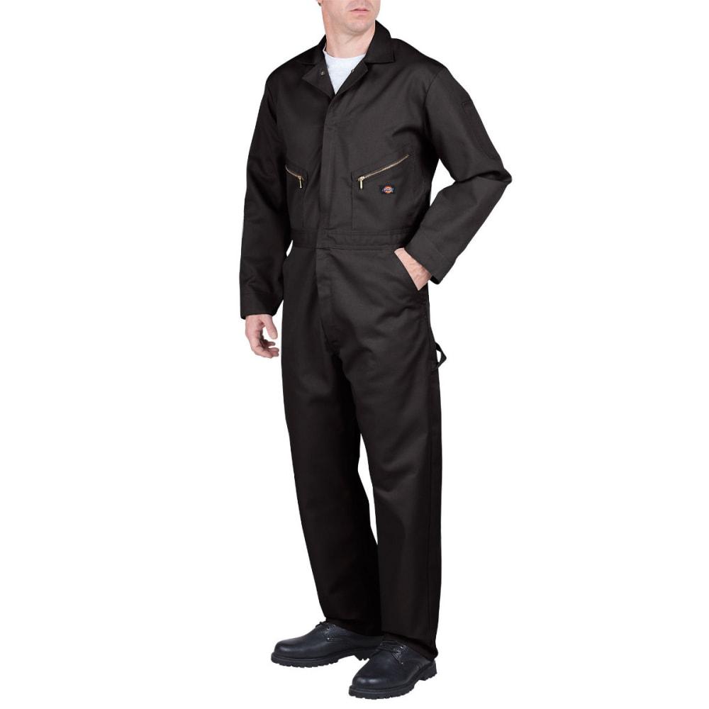 DICKIES Men's Deluxe Blended Coverall, Extended Sizes - BLACK-BK