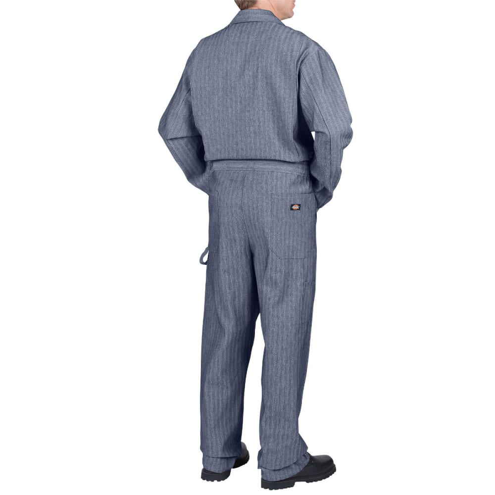 DICKIES Men's Fisher Stripe Cotton Coverall, Extended Sizes - FISHER STRIPE-FS