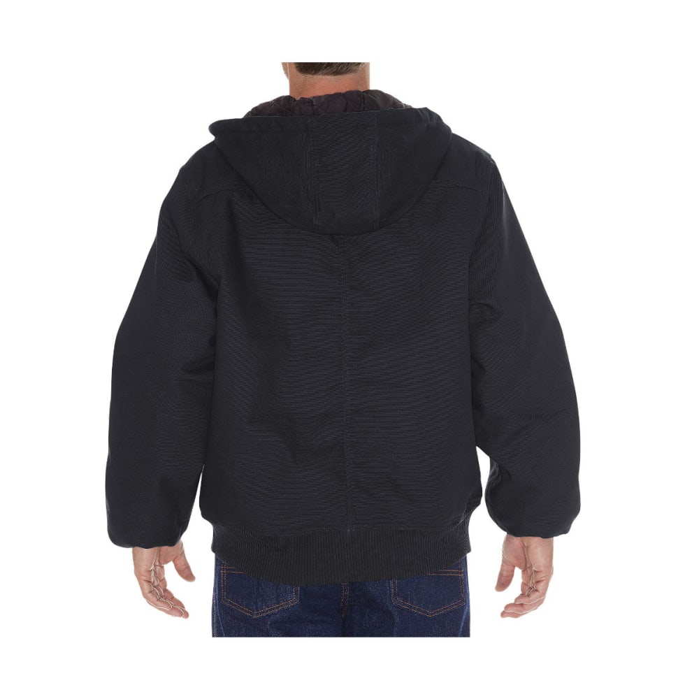 DICKIES Men's Rigid Duck Hooded Jacket, Extended Sizes - BLACK-BK