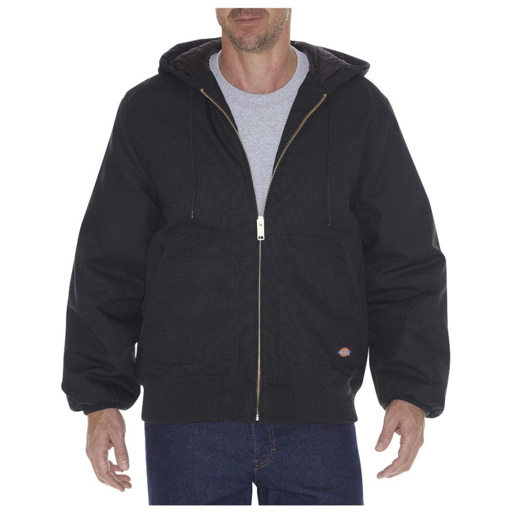 DICKIES Men's Rigid Duck Hooded Jacket, Extended Sizes - BLACK-BK