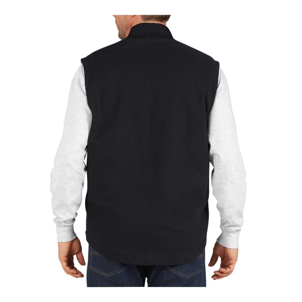 DICKIES Men's Sanded Duck Insulated Vest - RNSD BLACK-RBK