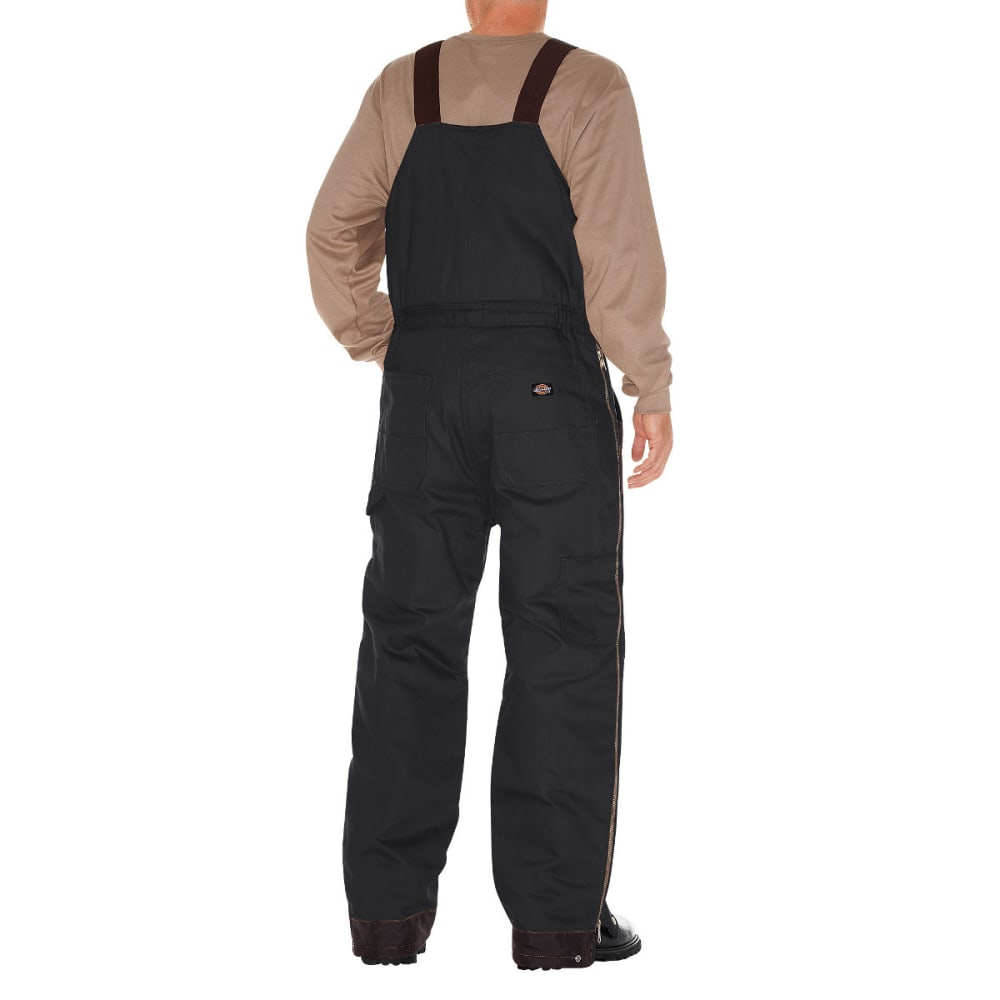 DICKIES Men's Duck Insulated Bib Overall, Extended Sizes - BLACK-BK