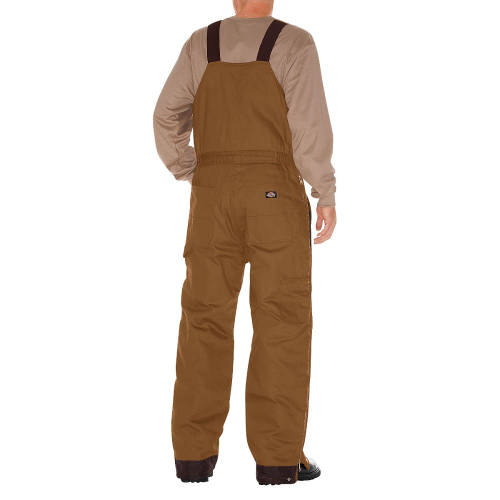 DICKIES Men's Duck Insulated Bib Overall, Extended Sizes - BROWN DUCK-BD