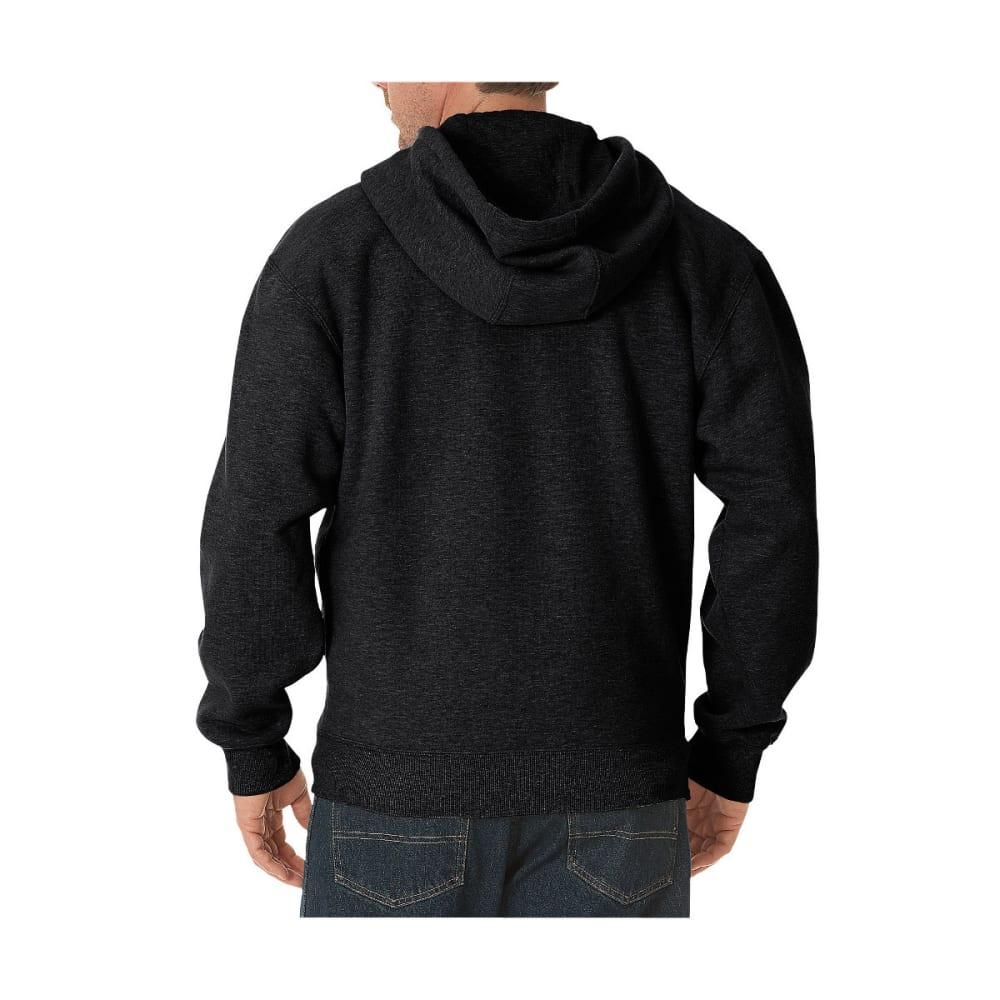 DICKIES Men's Midweight Fleece Full Zip Hoodie, Extended Sizes - BLACK-BK