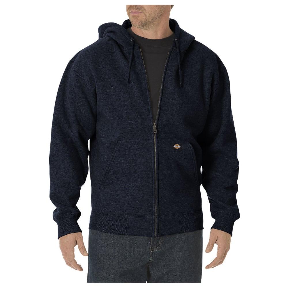 DICKIES Men's Midweight Fleece Full Zip Hoodie, Extended Sizes - DARK NAVY-DN