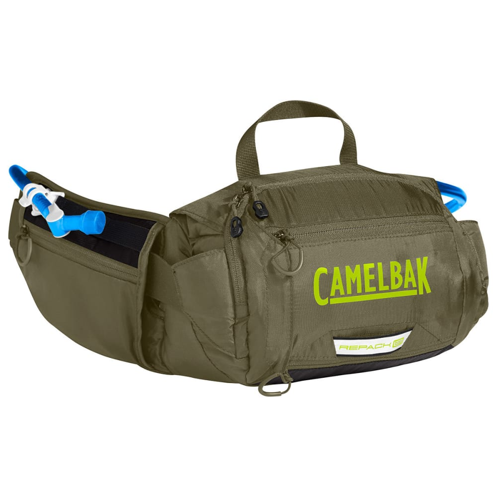 CAMELBAK Repack LR 4 Hydration Pack - BURNT OLIVE/LIME PUN