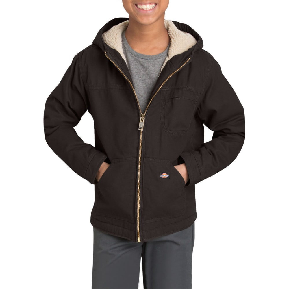 DICKIES Boys' 8-20 Sherpa Lined Duck Jacket - RNSD BLACK-RBK