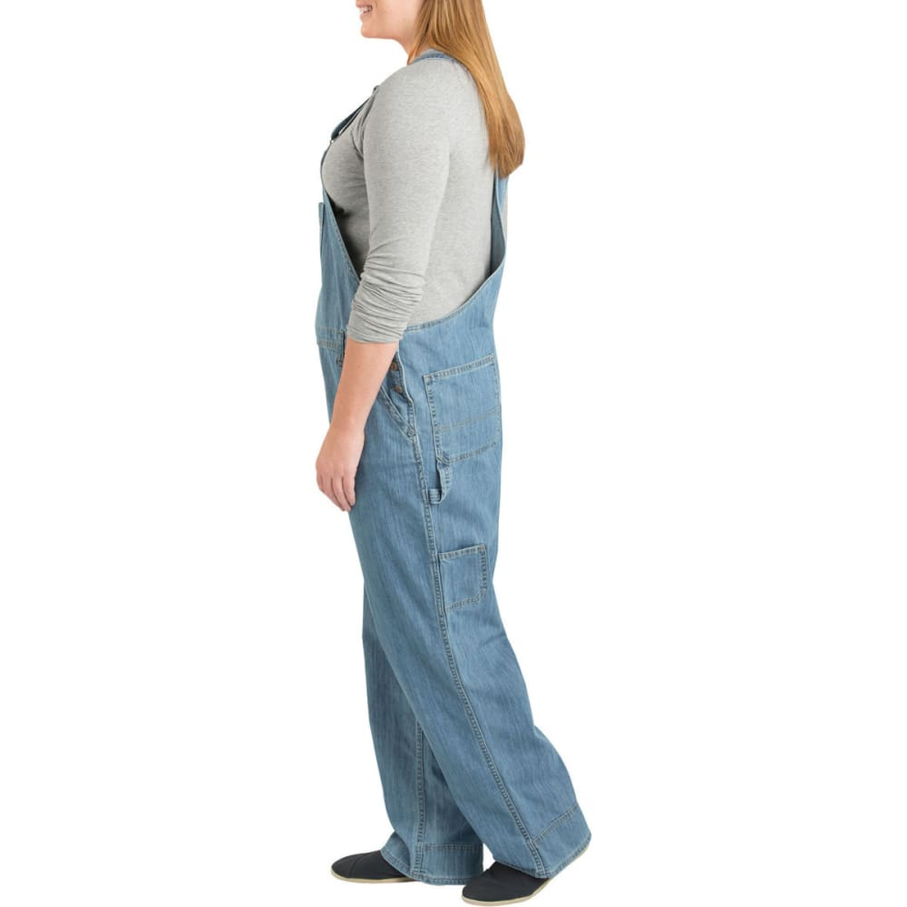DICKIES Women's Relaxed Fit Straight Leg Bib Overall, Extended Sizes - MD STNWSH/BLEACH-MSB