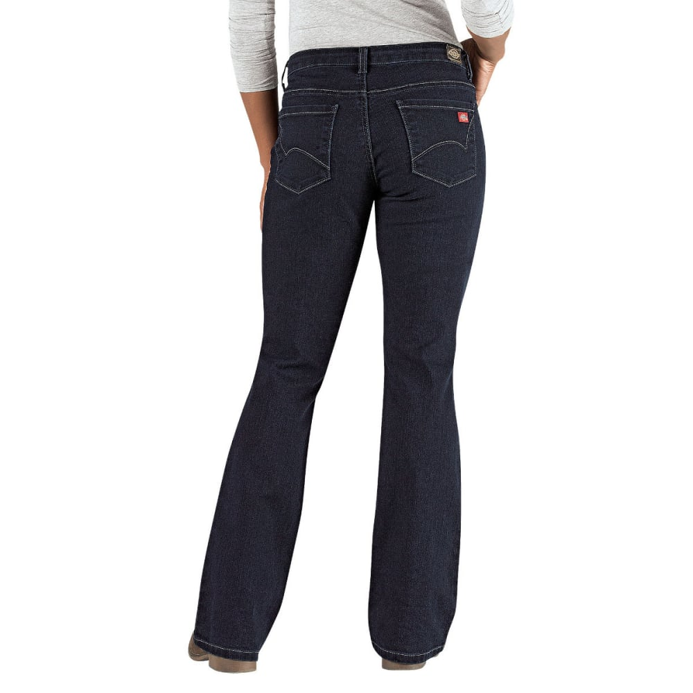 DICKIES Women's Curvy Fit Boot Cut Leg Denim Jean - DK STONE WASH-DSW
