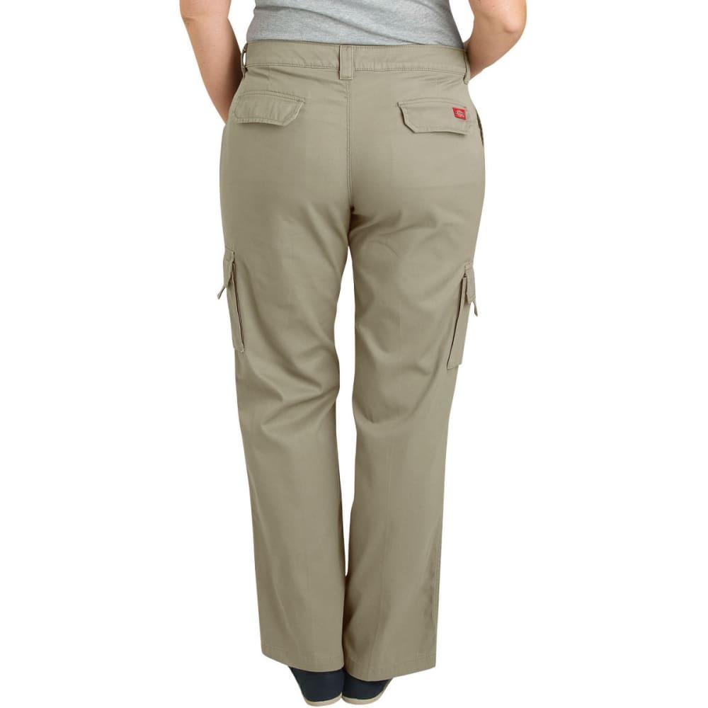 DICKIES Women's Relaxed Cargo Pant, Extended Sizes - RNSD DESERT SAND-RDS