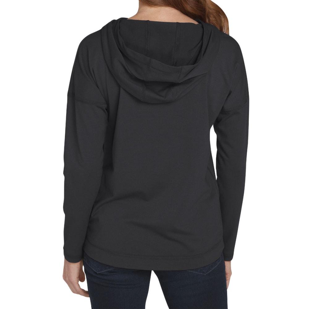 DICKIES Women's Long Sleeve Knit Hoodie - BLACK/WHITE-BKWH