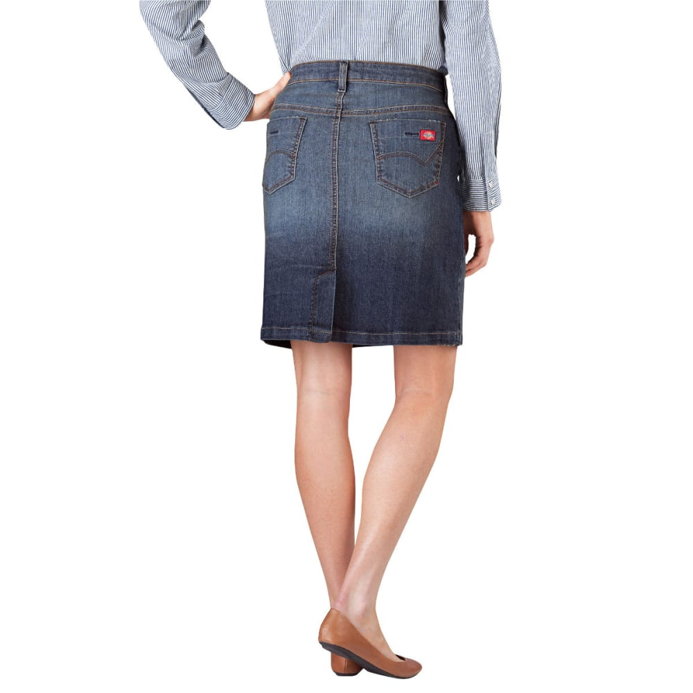 "DICKIES Women's 20"" Denim Skirt - ANTIQUE DARK-ATD"
