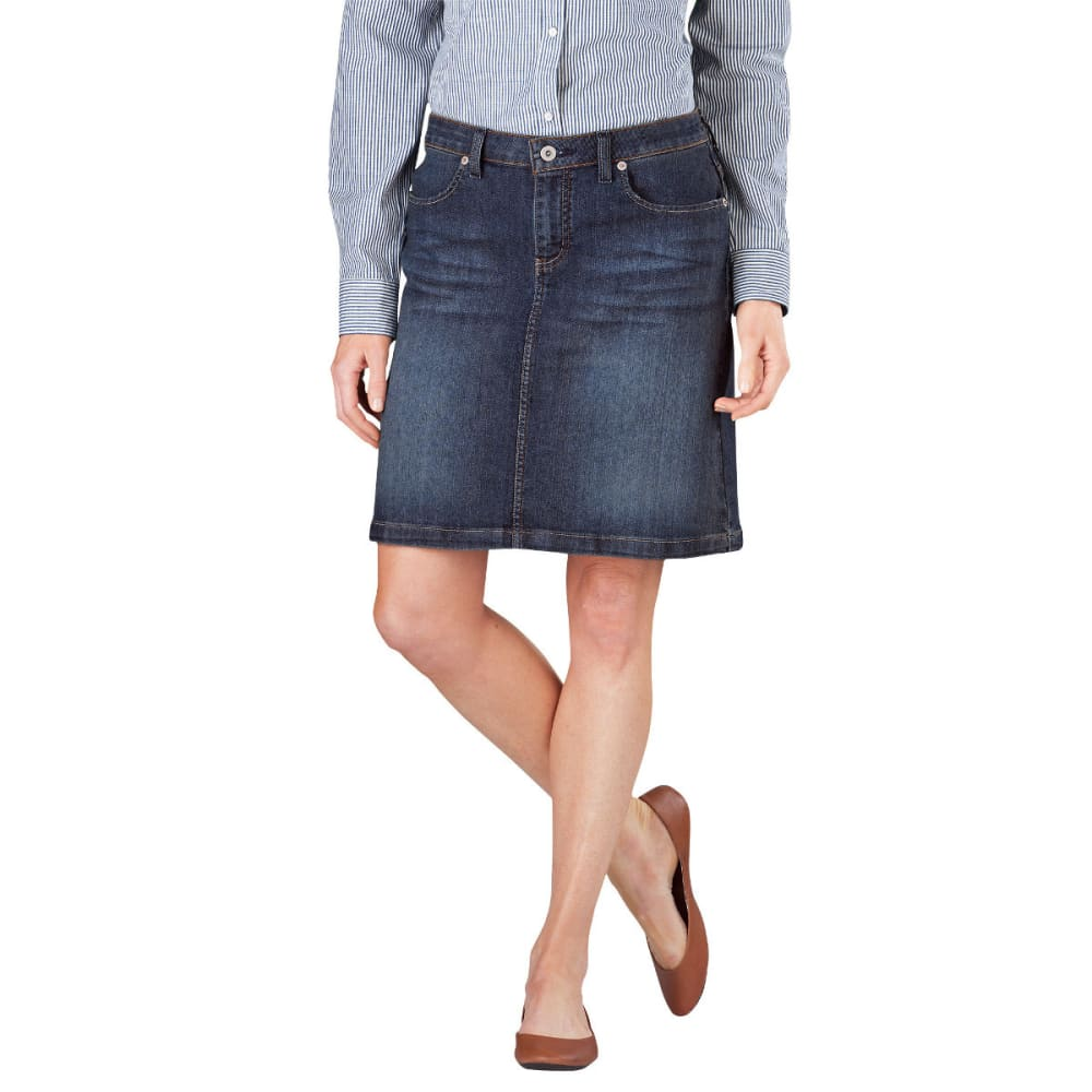 "DICKIES Women's 20"" Denim Skirt - ANTIQUE DARK-ATD"