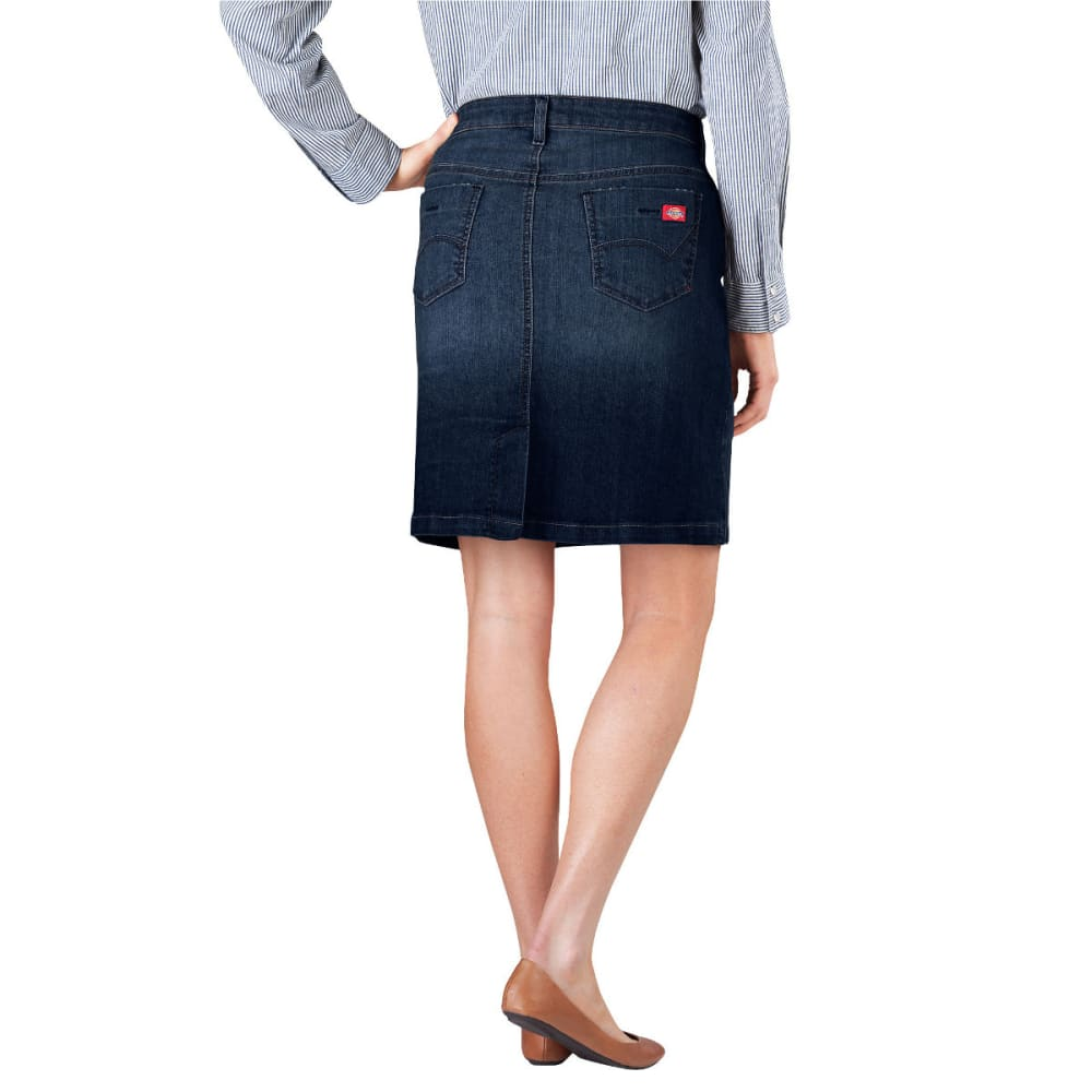 "DICKIES Women's 20"" Denim Skirt - DK STONE WASH-DSW"