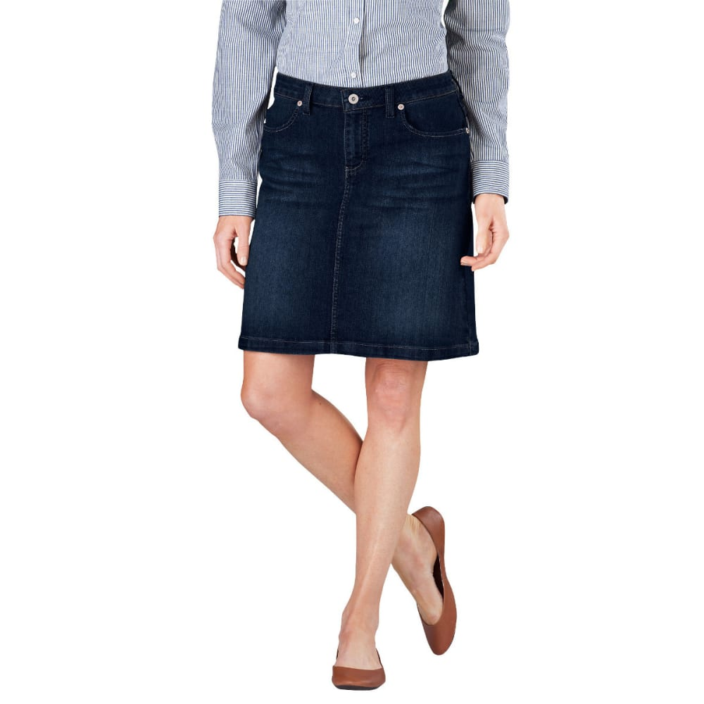 "DICKIES Women's 20"" Denim Skirt - DK STONE WASH-DSW"
