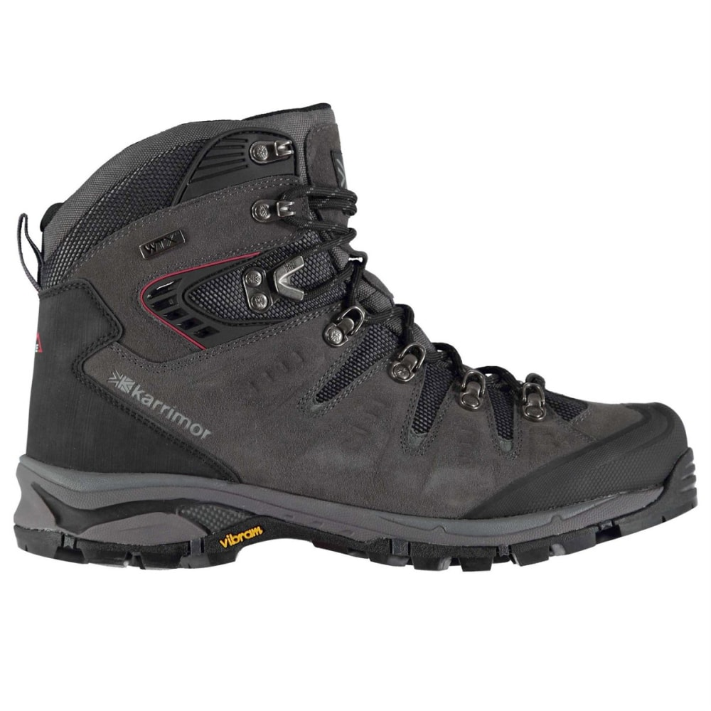 KARRIMOR Men's Leopard Waterproof Mid Hiking Boots - CHARCOAL