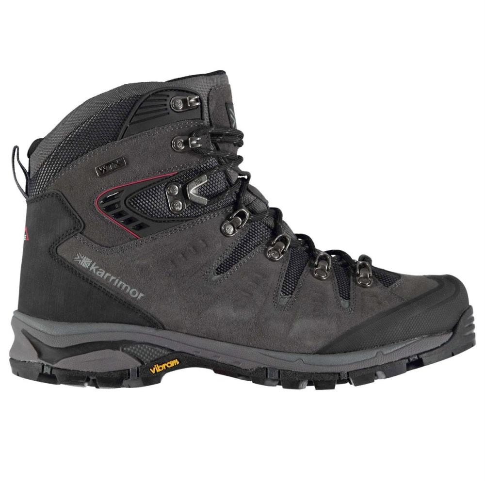 KARRIMOR Men's Leopard Waterproof Mid Hiking Boots - CHARCOAL