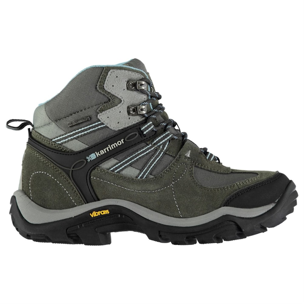 KARRIMOR Women's Mid Waterproof Hiking Boots - GREY/BLUE