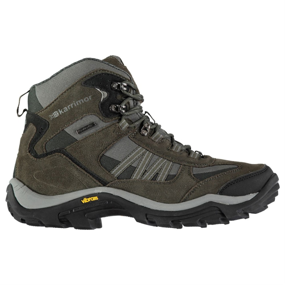 KARRIMOR Men's Weathertite Mid Waterproof Hiking Boots - Black Sea