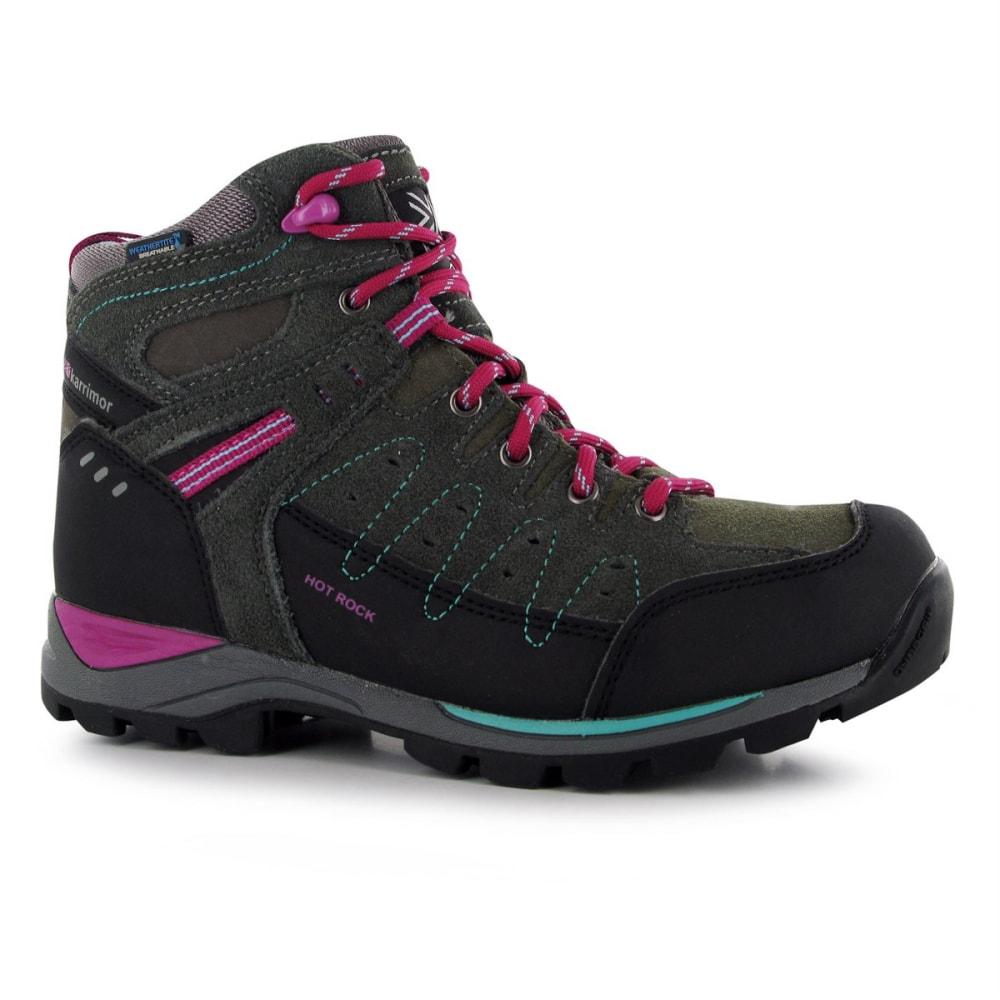 KARRIMOR Big Kids' Hot Rock Waterproof Mid Hiking Boots - GREY/PURPLE