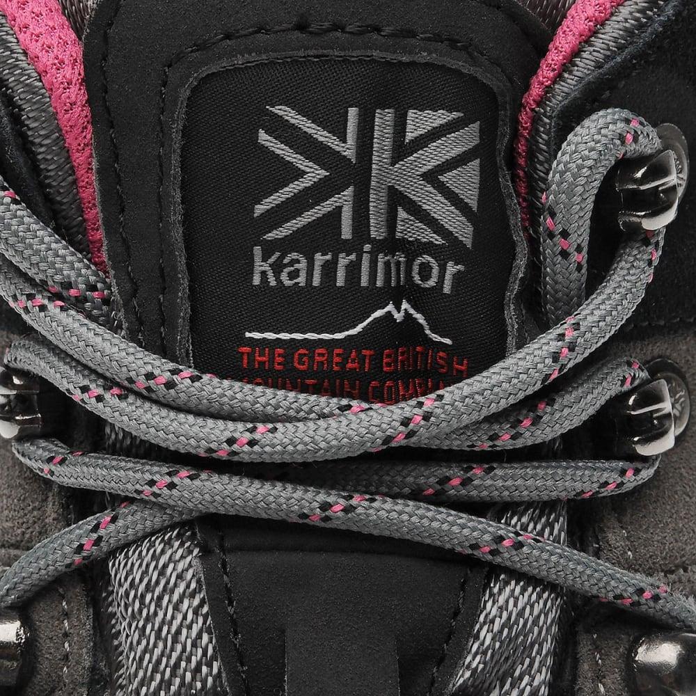 KARRIMOR Women's Hot Rock Waterproof Mid Hiking Boots - CHARCOAL/PINK