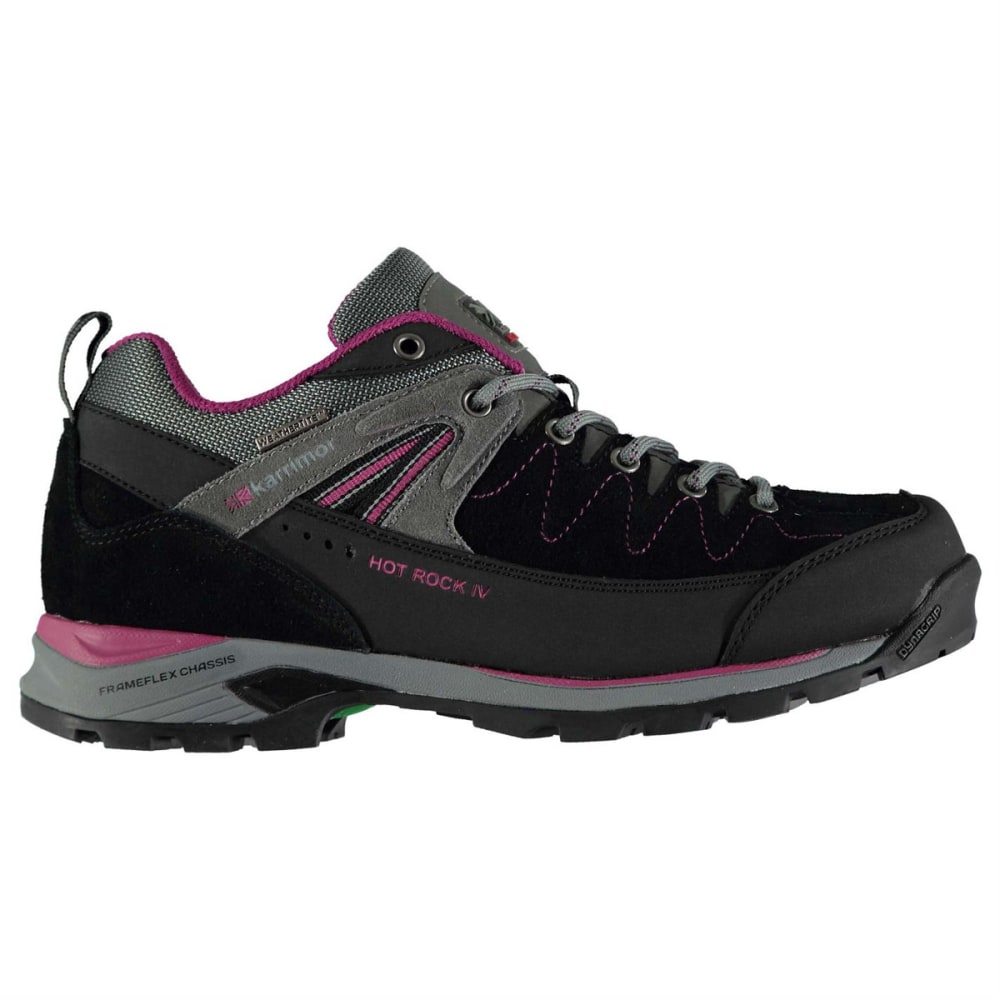 KARRIMOR Women's Hot Rock Waterproof Low Hiking Shoes - CHARCOAL/PURPLE