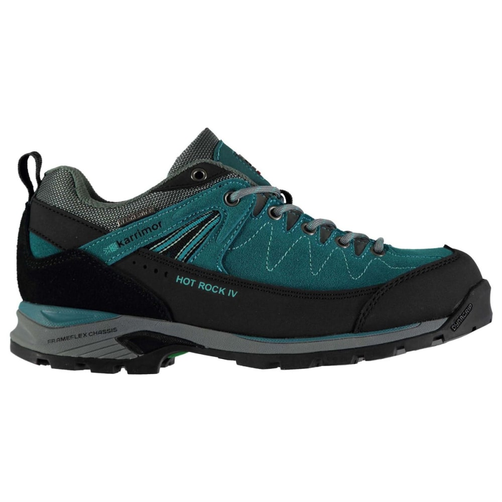 KARRIMOR Women's Hot Rock Waterproof Low Hiking Shoes - TEAL