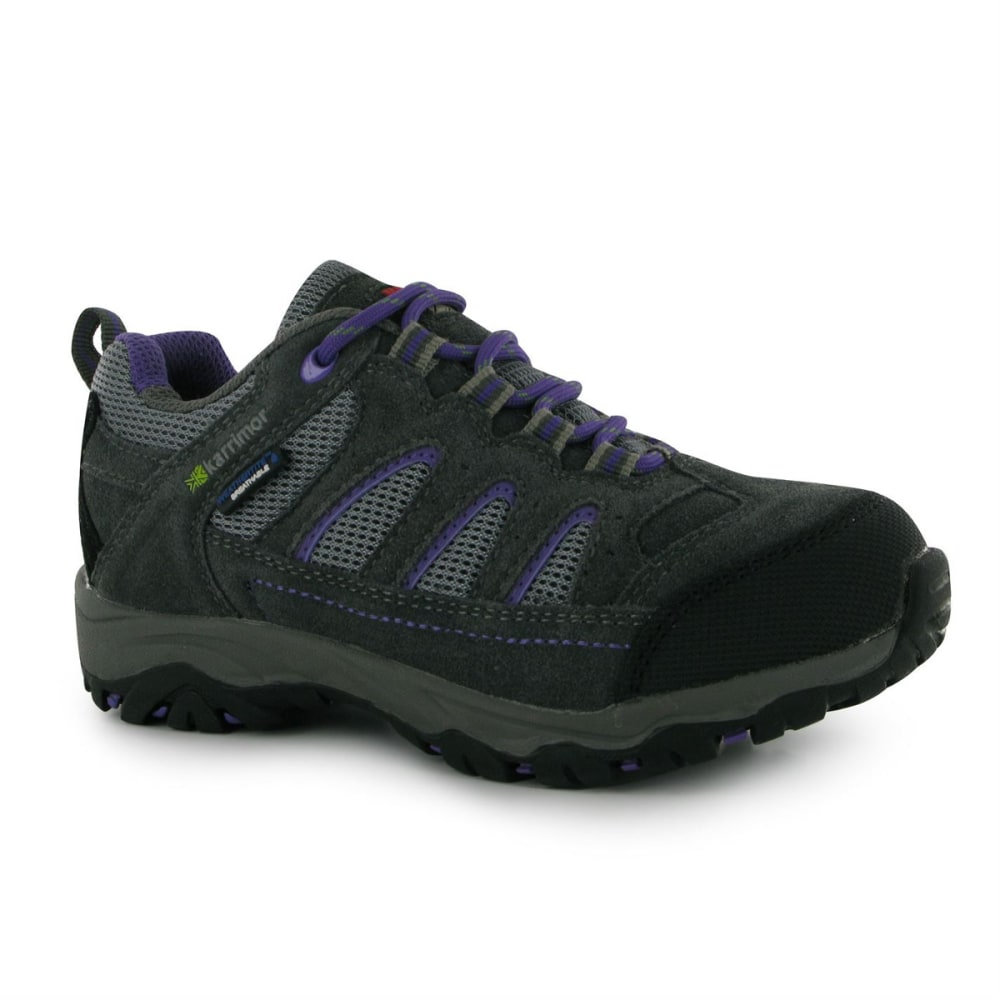 KARRIMOR Kids' Mount Low Waterproof Hiking Shoes - GREY/PURPLE