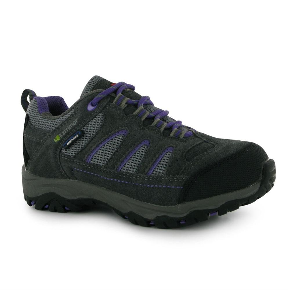 KARRIMOR Kids' Mount Low Waterproof Hiking Shoes - GREY/PURPLE