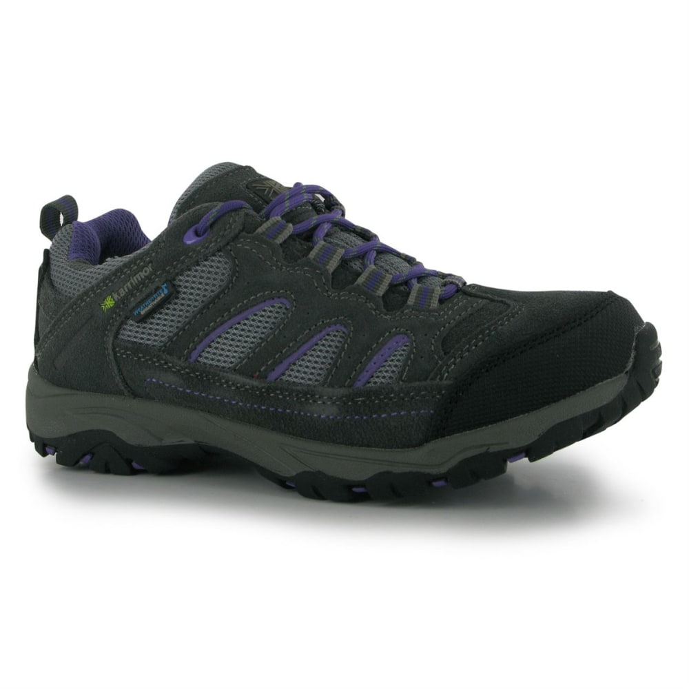 KARRIMOR Big Kids' Mount Waterproof Low Hiking Shoes - GREY/PURPLE