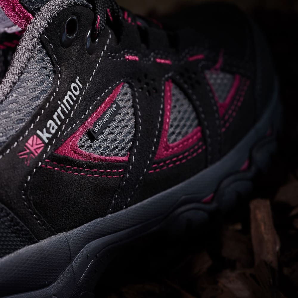 KARRIMOR Women's Mount Low Waterproof Hiking Shoes - BLACK/PINK