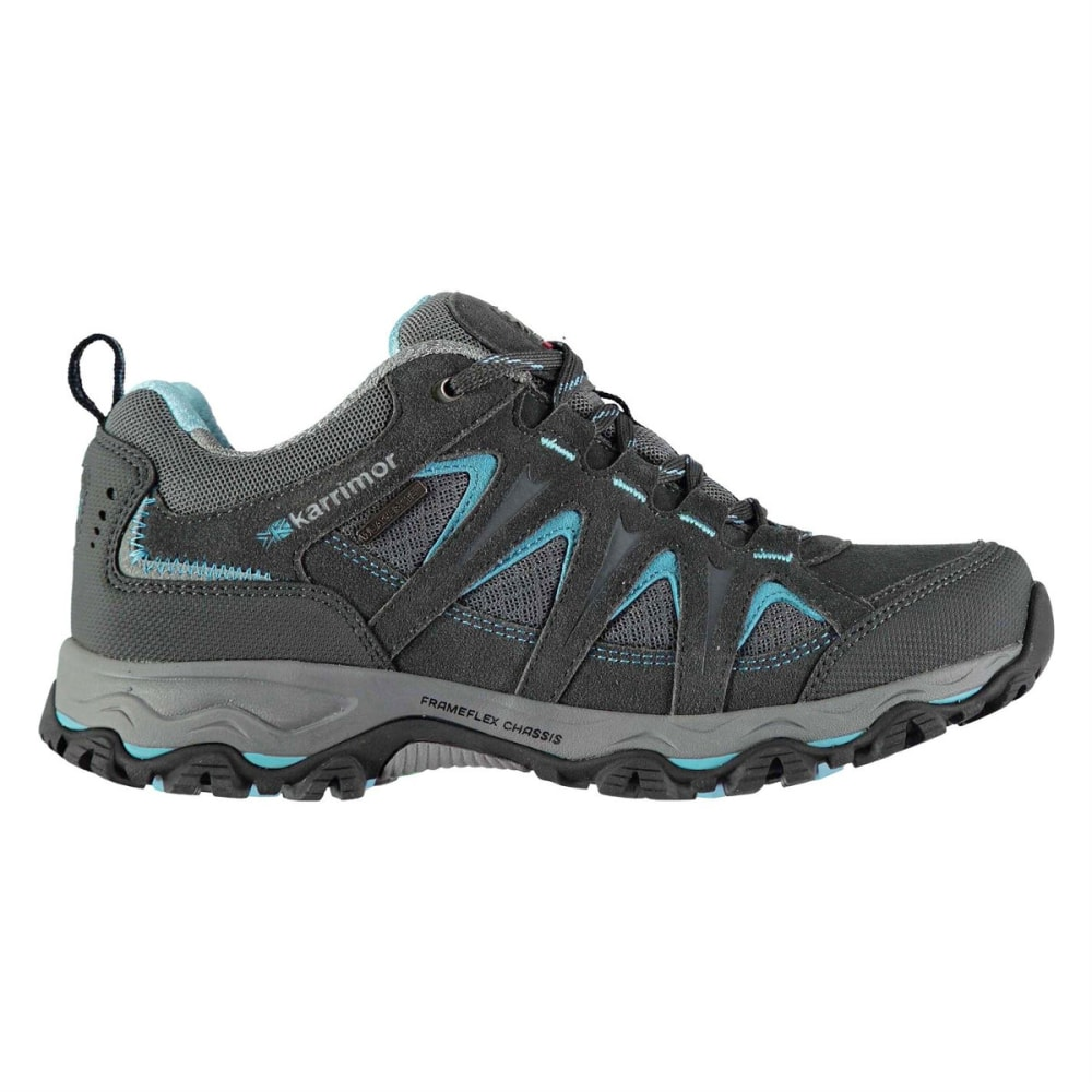 KARRIMOR Women's Mount Low Waterproof Hiking Shoes - GREY/BLUE