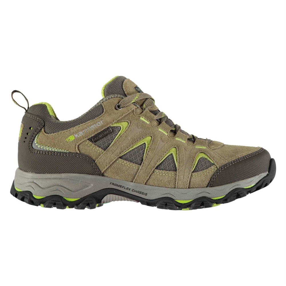 KARRIMOR Women's Mount Low Waterproof Hiking Shoes - TAUPE/GREEN