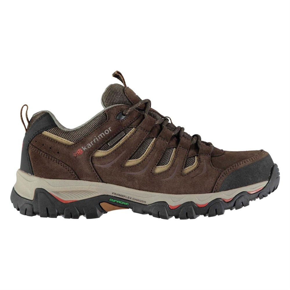 KARRIMOR Men's Mount Low Waterproof Hiking Shoes - BROWN