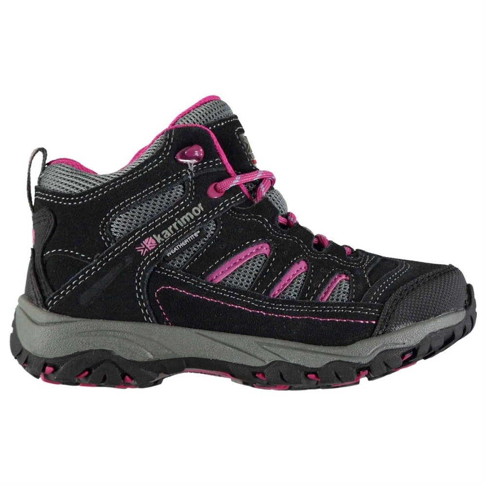 KARRIMOR Kids' Mount Mid Waterproof Hiking Boots - GREY/PINK