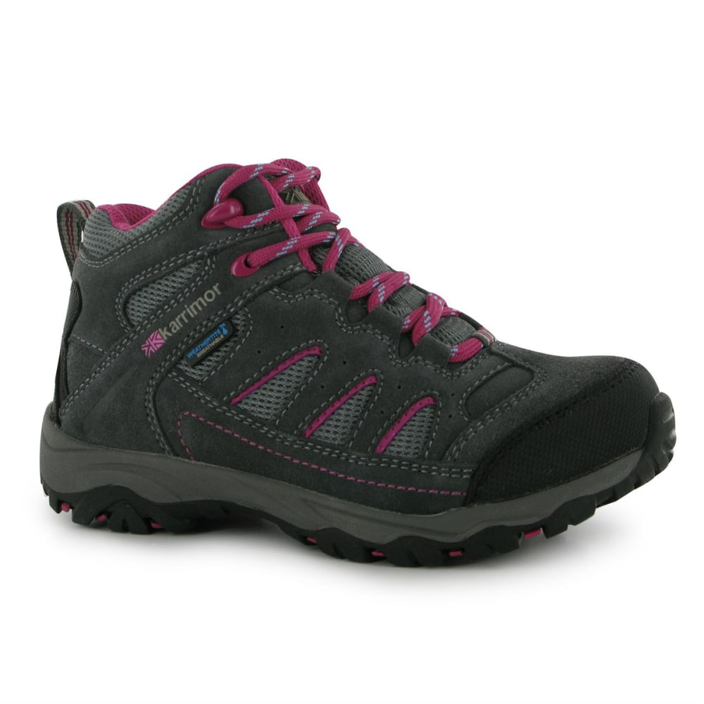 KARRIMOR Kids' Mount Mid Waterproof Hiking Boots - GREY/PINK