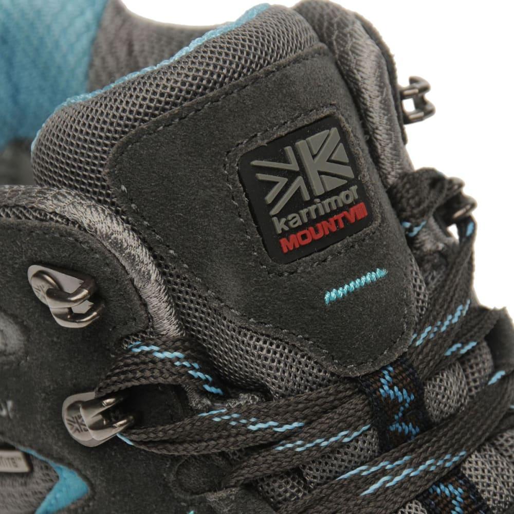 KARRIMOR Women's Mount Mid Waterproof Hiking Boots - GREY/BLUE