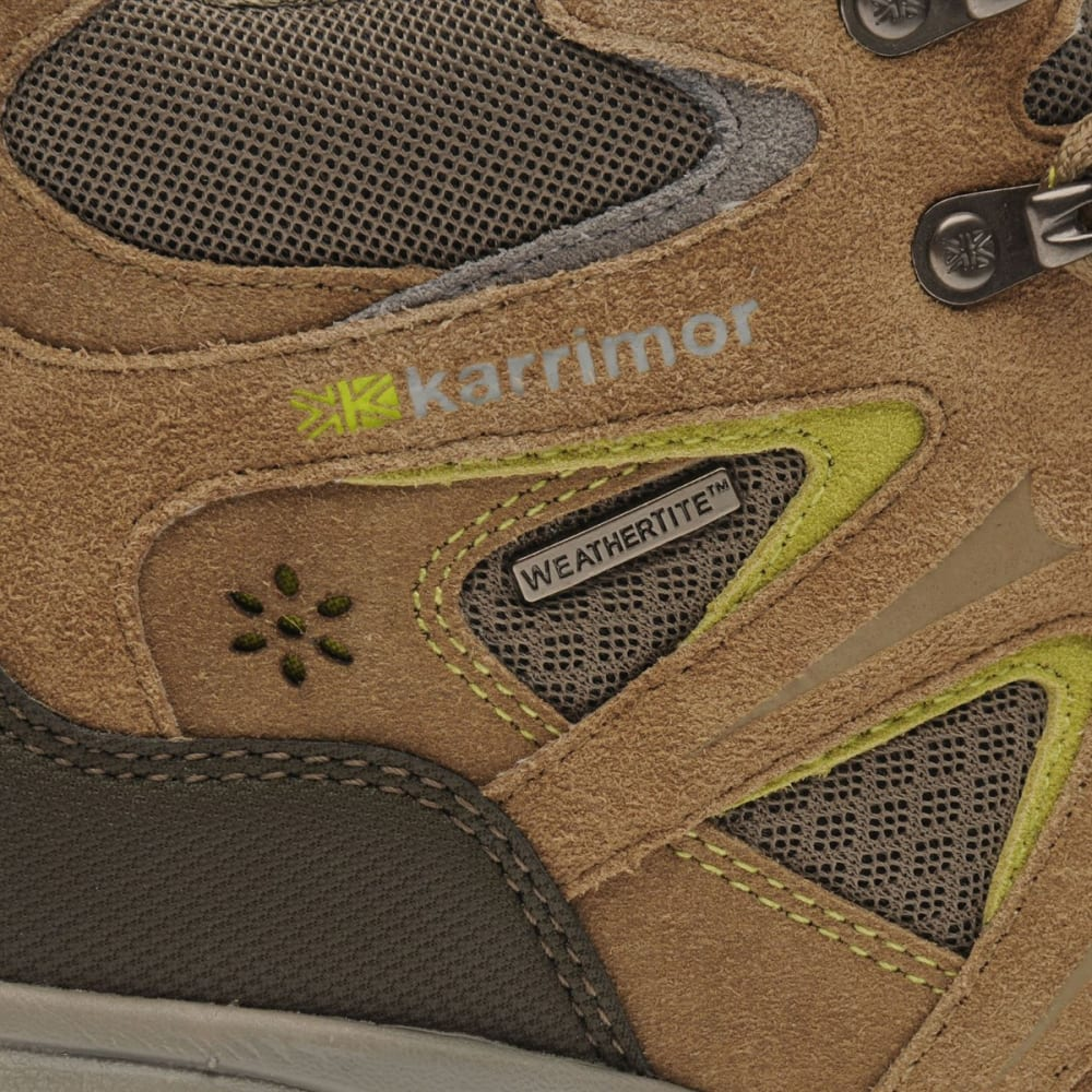 KARRIMOR Women's Mount Mid Waterproof Hiking Boots - TAUPE/GREEN